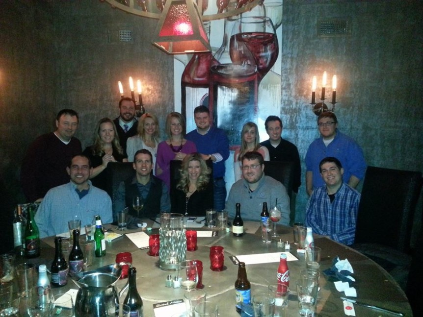 GHS team at Gervasi Vineyard for company triop 2013