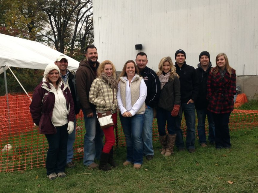 GHS Recruiting team members at Mapleside Farms