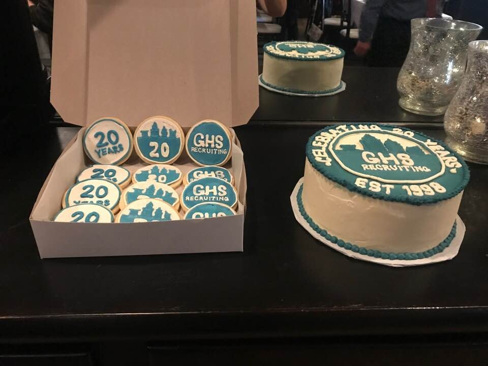 GHS Recruiting anniversary confections by Scratch Bakery
